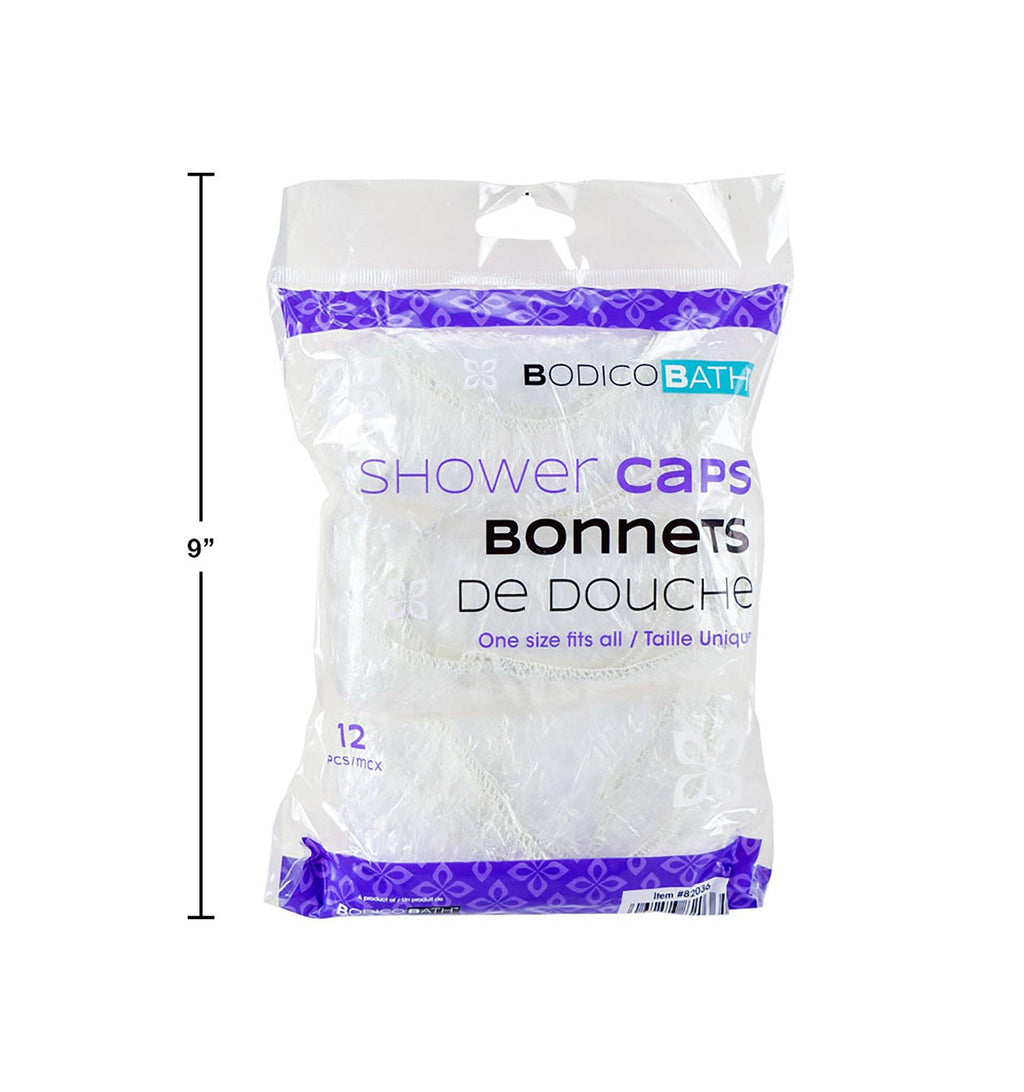 Bodico 12-Pc Shower Caps Opp Bag - Dollar Max Depot