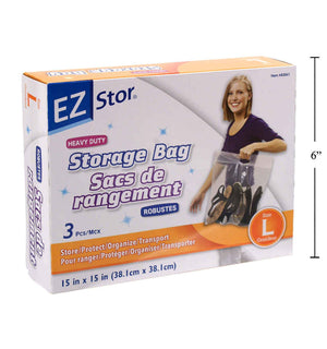 Ez-Stor 3-Pc Hd Storage Bag Size L - Dollar Max Depot