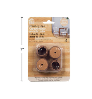 H.E. 4-Pc Round Chair Leg Caps - Dollar Max Depot