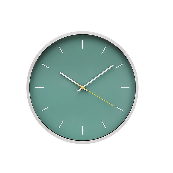 Reyes 14In Wall Clock - Teal And Silver