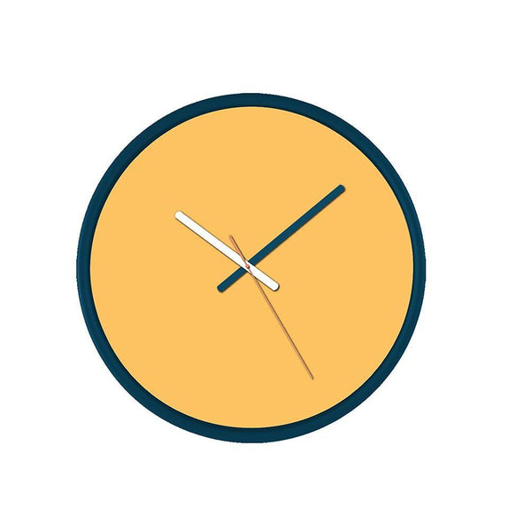Navaro 14In Wall Clock - Yellow And Blue