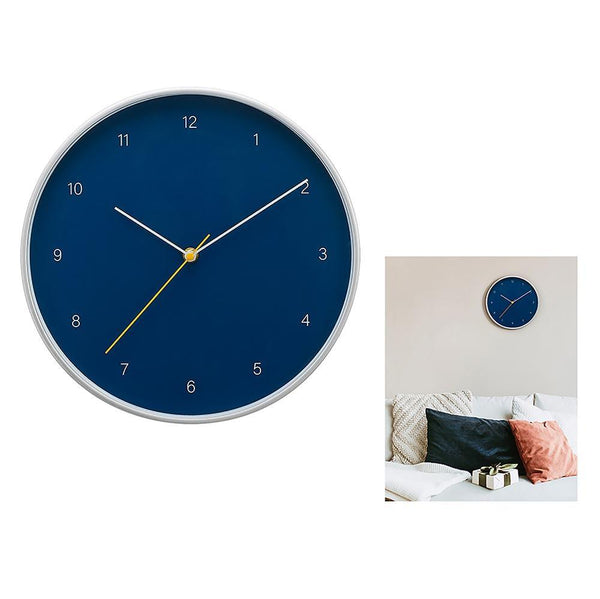 Temple 12In Wall Clock - Blue And Silver