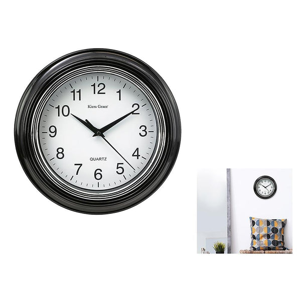 Aster 10In Wall Clock - Black