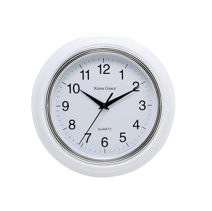 Aster 10In Wall Clock - White