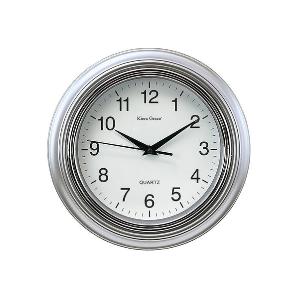 Aster 10In Wall Clock - Silver