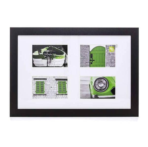 Langford 12X18In Collage Frame (For 4-4X6In) - Black
