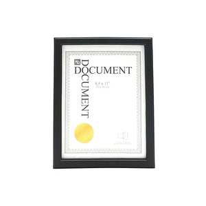 Caspian 8.5X11In Document Frame Black