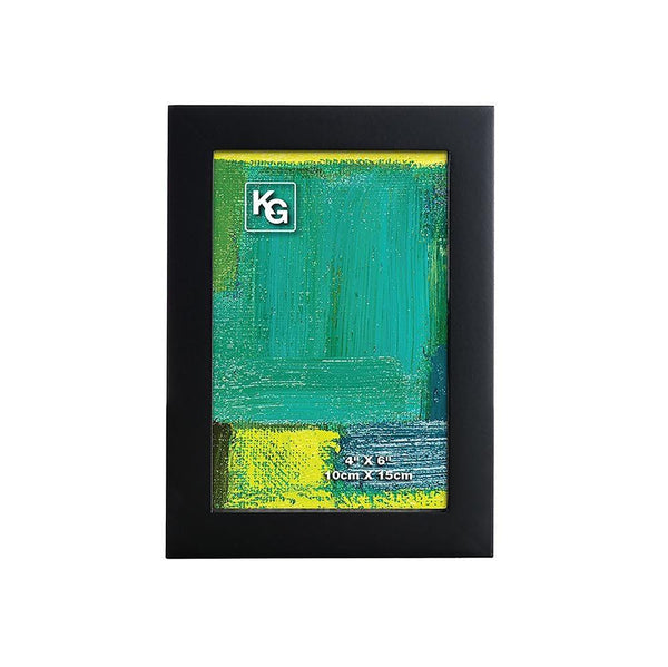 Contempo 4X6In Wood Frame Black