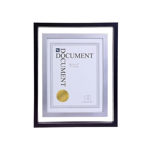 City Floating 11X14In Document Frame (For 8.5X11)-Black With Chrome