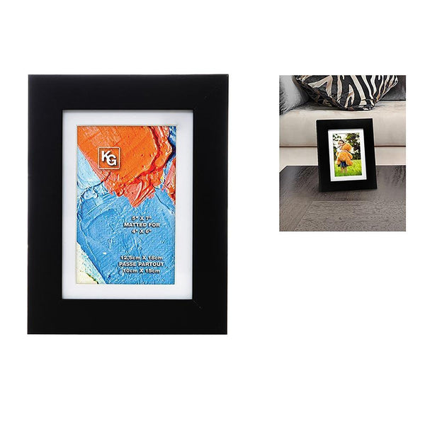 Langford 5X7In (For 4X6) Wood Frame, Black