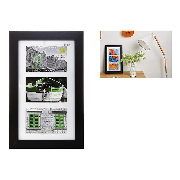 Langford 8X14In Wood Collage Frame (For 3-4X6), Black