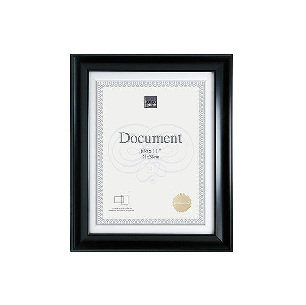 Reagan 8.5X11 Document Frame Black