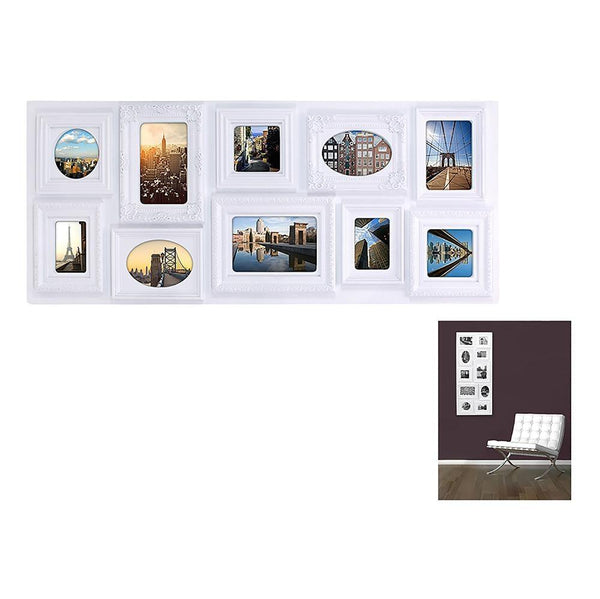 Sophia 13X30.5 10 Opening Collage Frame, White