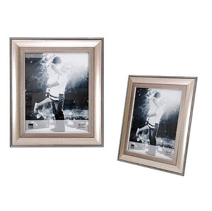 Wilson 8X10In Frame, Brushed Silver With Embossed Motif