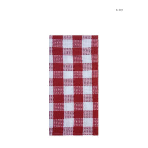 Hotel Gingham Tea Towel - Red - Dollar Max Depot