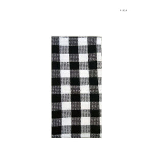 Hotel Gingham Tea Towel - Black - Dollar Max Depot