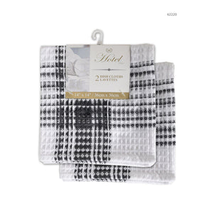 Hotel Plaid 2Pk Dish Cloth - Dollar Max Depot