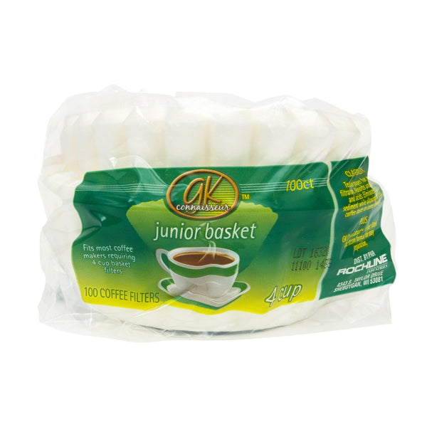 100 Basket Coffee Filters In Poly Bag. For 4 Cups Of Coffee. Fits Most Coffee Machines