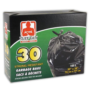 "Strong Garbage Bags 30""X38"" 105L 30Pk"