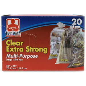 "Extra Strong Multipurpose Bag With Ties 30""X48"" 20Pk"