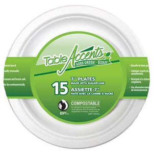 "Compostable Plate 7"" 15Pk - Dollar Max Depot"