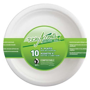 "Compostable Plate 9"" 10Pk - Dollar Max Depot"