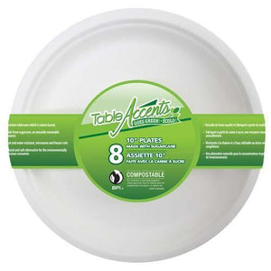 "Compostable Plate 10"" 8Pk - Dollar Max Depot"