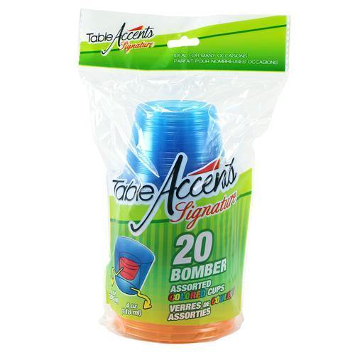 1Oz 4Oz Bomber Cup Assorted Colours 20pk