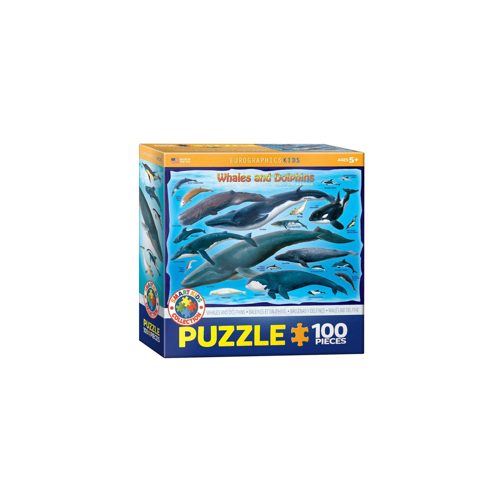 Eurographics Whales And Dolphins 100-Piece Puzzle Box