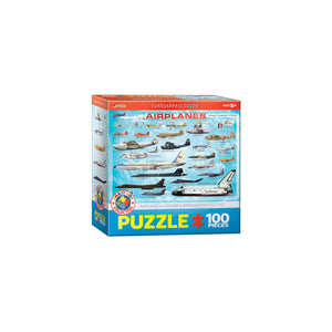 Eurographics Airplanes 100-Piece Puzzle Box