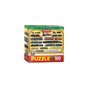 Eurographics Trains 100-Piece Puzzle Box