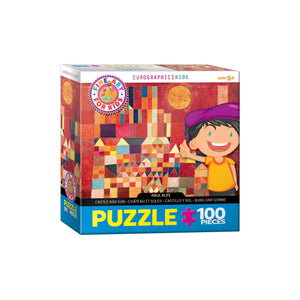 Eurographics Castle And Sun By Paul Klee 100-Piece Puzzle Box - Dollar Max Depot