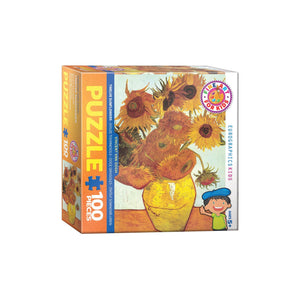 Eurographics Twelve Sunflowers 100-Piece Puzzlebox