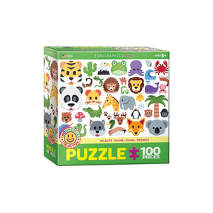 Eurographics Emojipuzzle-Wild Animals 100-Piece Puzzlebox