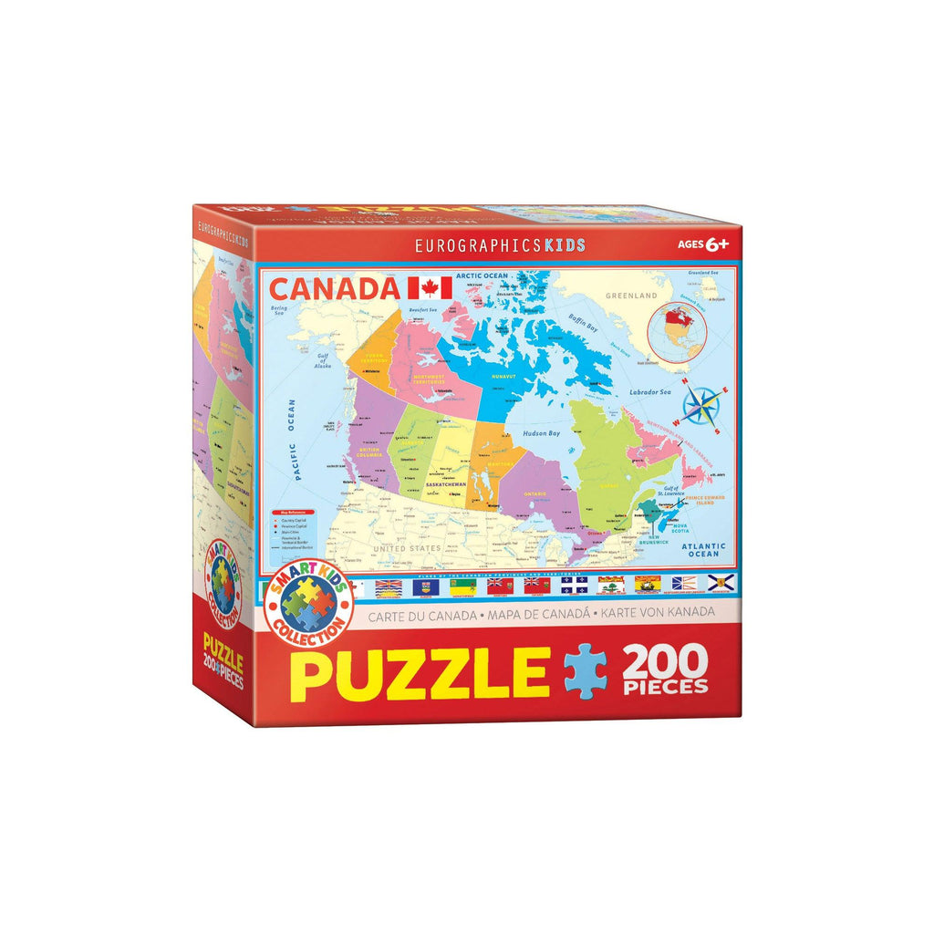 Eurographics Map Of Canada 200-Piece Puzzle Box