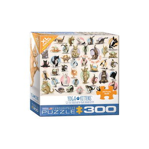 Eurographics Yoga Kittens 300-Piece Puzzle (Small Box)