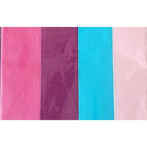 Tissue Papers - Pink/Purple/Blue/Light Pink - Dollar Max Depot