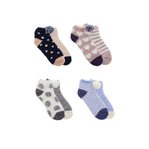 D&Co Ladies 2Pk Softee Ankle Socks 9-11 - Dollar Max Depot