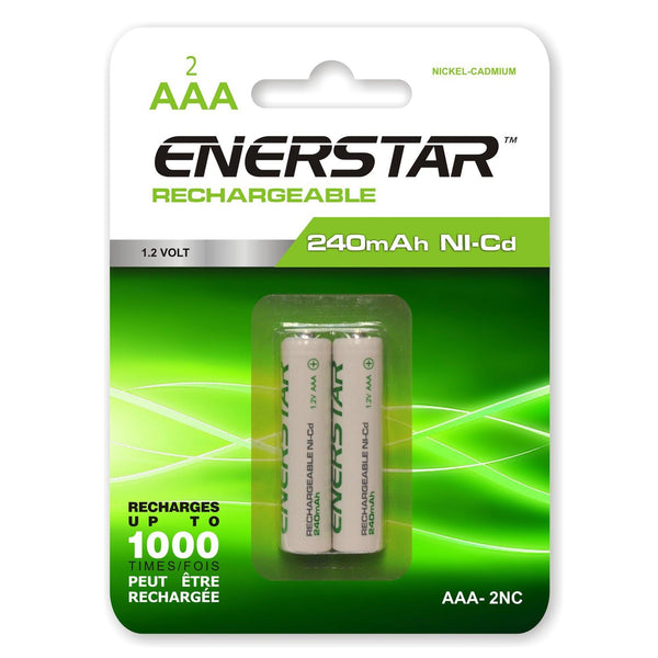 Batteries Rechargeable Aaa Nc (2)