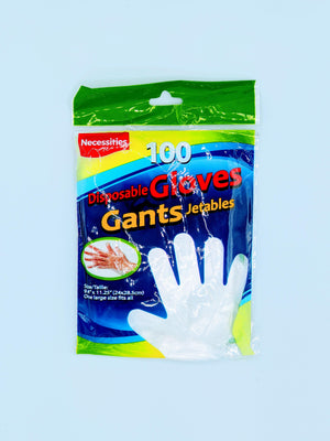 Disposable Poly Gloves Pack Of 100