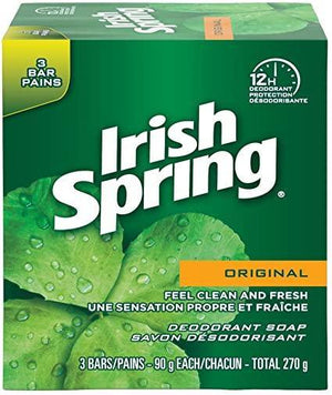 Irish Spring Soap Bars Pack of 3 | 12 hour Deodorant Protection | Original Scent - Dollar Max Depot