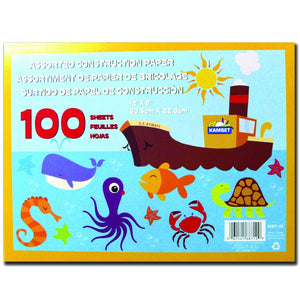 "Construction Paper Pad 100 Sheets 12"" X 9"" - Dollar Max Depot"
