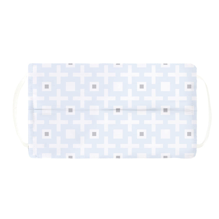 2 Ply Kids Washable Kushies Mask - Light Blue Cross - Dollar Max Depot