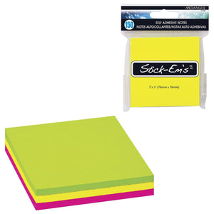 "Stick-Em'S 150P 3X3"" Neon Sticky Notes - Dollar Max Depot"