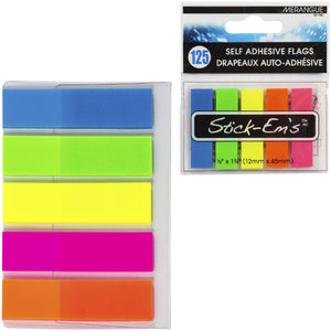 Stick-Em'S 125Pk Neon Flags Sticky Notes - Dollar Max Depot