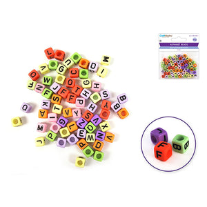 Multi Mix Alphabet Beads: 6Mm Cube X68 - Dollar Max Depot