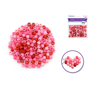 Princess Pony Beads: 8Mmx6Mm Barrel Color-Mix Value-Pak X200 - Dollar Max Depot