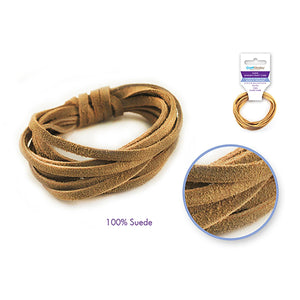 Natural Jewelry/Craft Cord: 100% Suede 3Mm Flat X2M - Dollar Max Depot