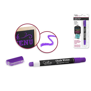 Deep Purple Craft Decor: Chalk Writer Blister-Carded - Dollar Max Depot