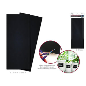 "Craft Decor: Chalkboard Diy 5 1/8""X12 3/8"" Crop-It Sticker X2 Sheets - Dollar Max Depot"